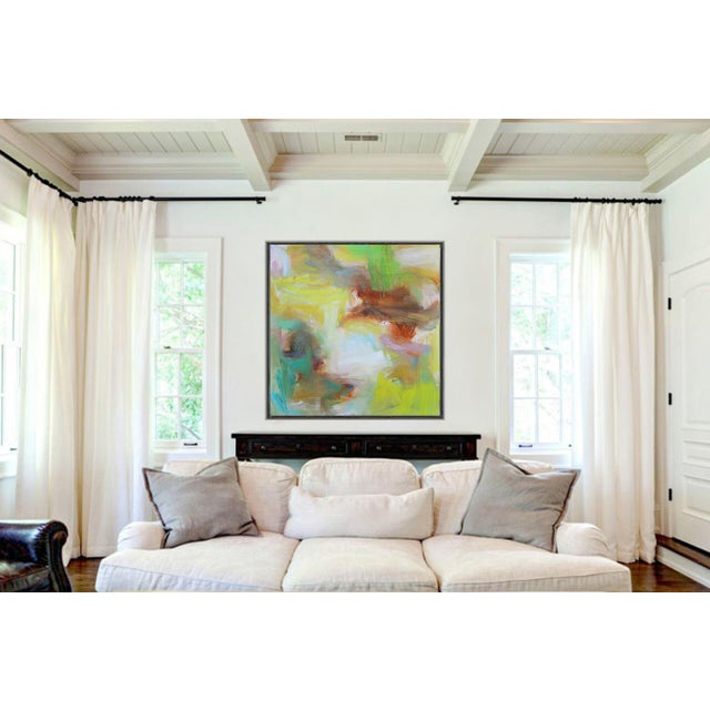 """Appalachian Spring"" Large Abstract Expressionist Oil Painting For Sale - Image 11 of 13"