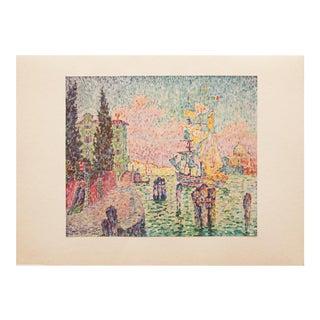 """1947 Paul Signac, """"Venice Landscape"""" Original Parisian Lithograph For Sale"""