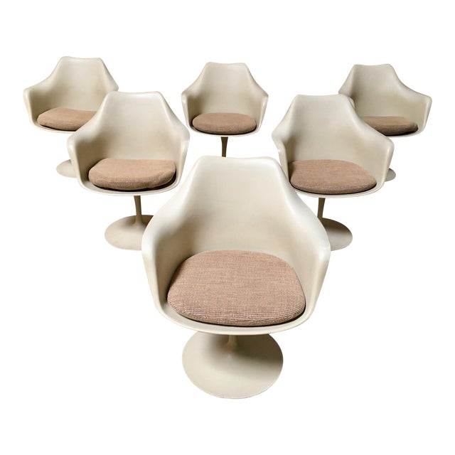 Vintage Mid Century Eero Saarinen for Knoll Dining Chairs- Set of 6 For Sale