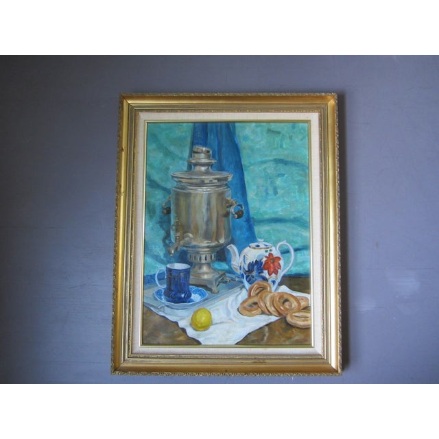 'Tea Time in the Ussr' Original Painting - Image 2 of 8