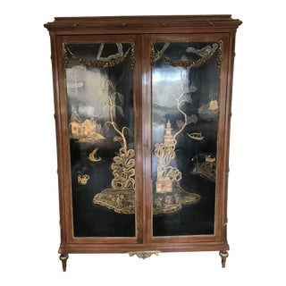 1800s French Louis XVI Chinoiserie Armoire For Sale