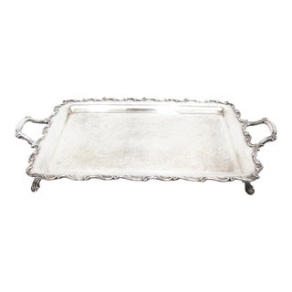 Wilcox International Silver Co. Large Footed Rectangular Tray For Sale