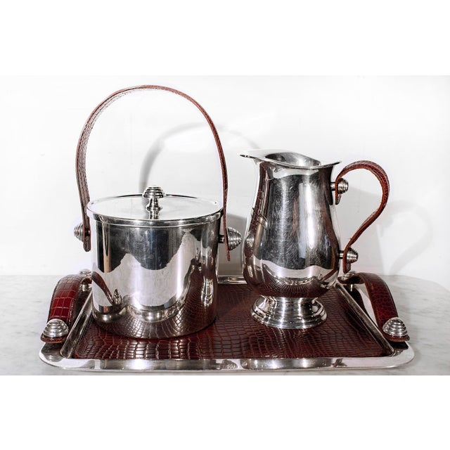 Sheffield Silver & Leather Bar Service Set - Image 2 of 8
