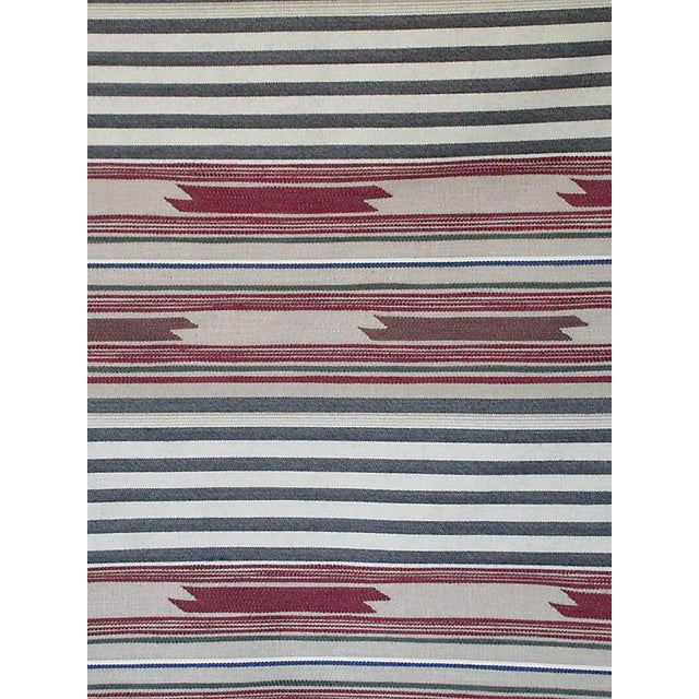 Sample, Scalamandre Cheyenne, Bordeaux Zolfo Fabric For Sale
