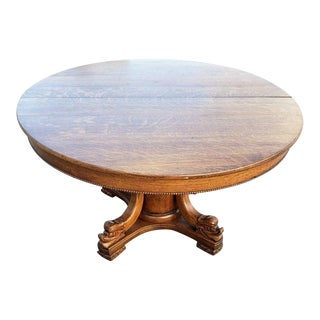 19th Century American Empire Carved Dolphin Table For Sale