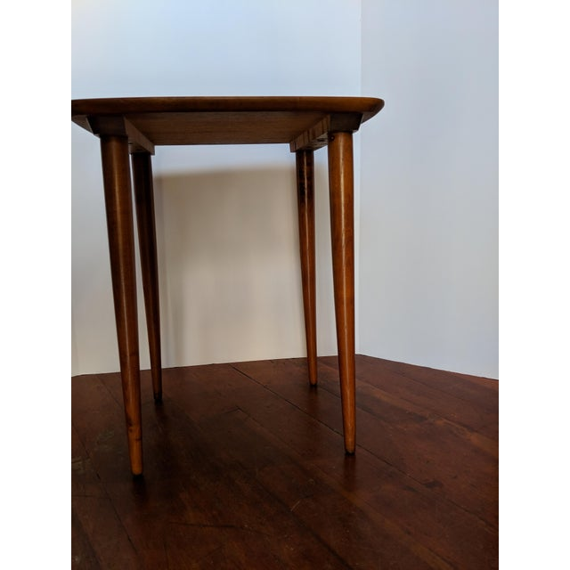 Wood Vintage Mid-Century Nesting Tables - Set of 3 For Sale - Image 7 of 9