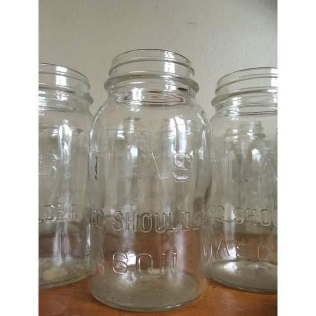 Vintage Atlas Mason Jars - Set of 13 - Image 4 of 4