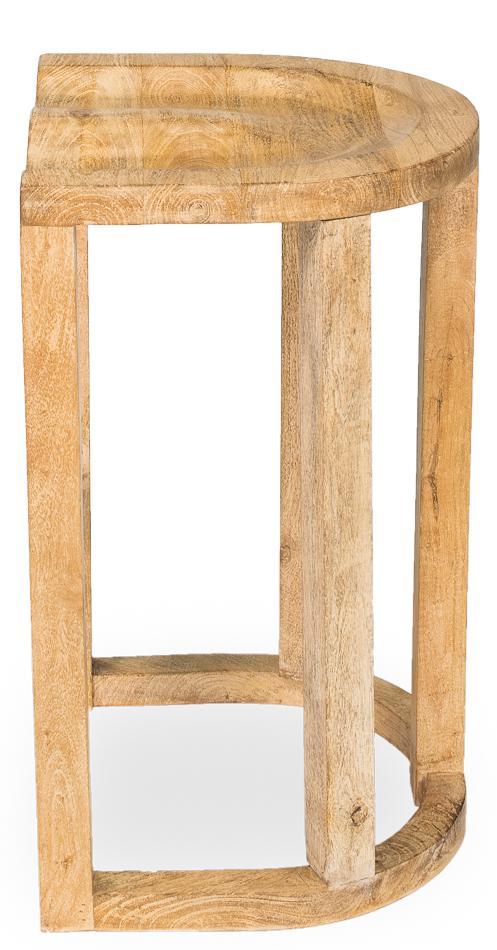 Sarreid LTD Wood Tractor Seat Bar Stool   Image 3 Of 6
