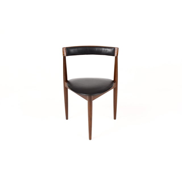 Black Hans Olsen for Frem Rojle Danish Modern / Mid Century African Teak Dining Chairs - Set of 4 For Sale - Image 8 of 11