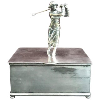 Art Deco Female Golf Box by Wilcox Silverplate Company For Sale