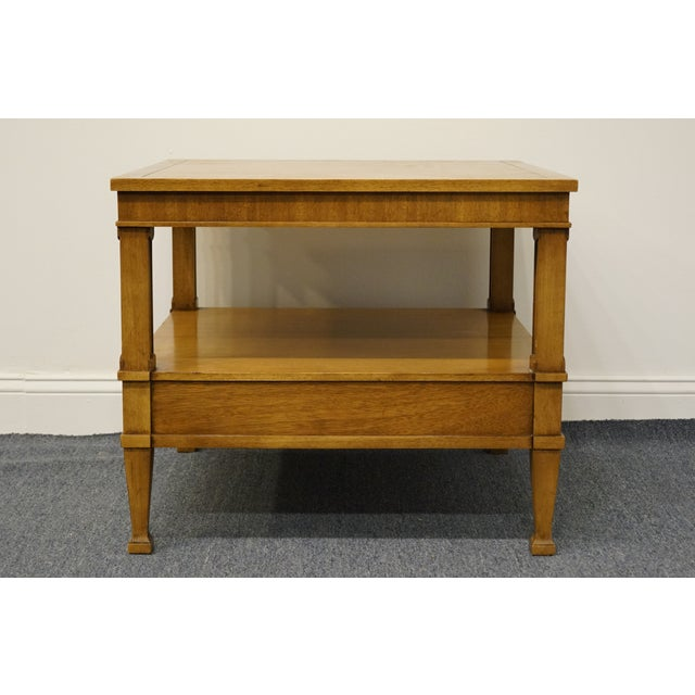 "Drexel Heritage Triune Collection Mahogany 26"" Square End Table For Sale - Image 12 of 13"