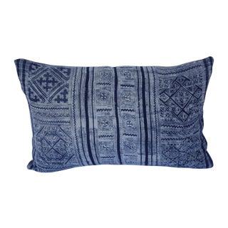 Custom Mali Indigo Pillow