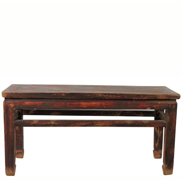Elm Rustic Shandong Elm Bench For Sale - Image 7 of 7