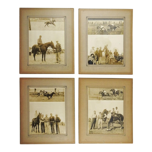 1950's Horse Race Photographs - Set of 4 For Sale