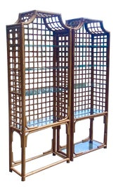 Image of Bamboo Bookcases and Étagères