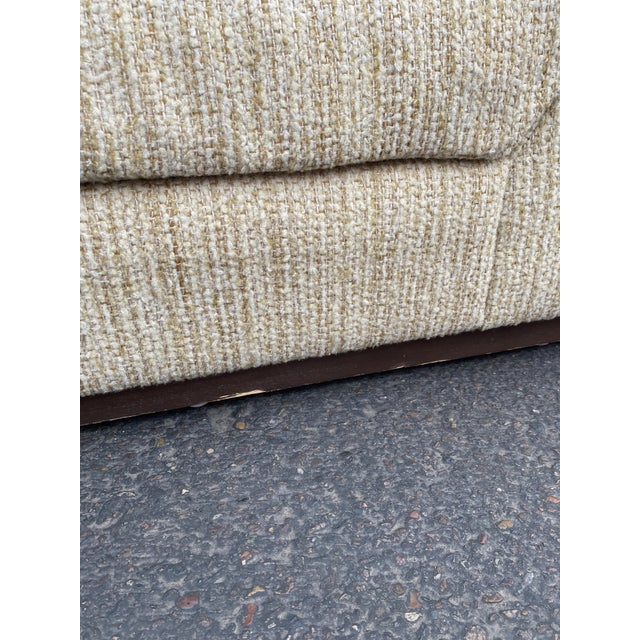 Beige Vintage Deep Biscuit Tommy Tufted Lounge Chair and Ottoman For Sale - Image 8 of 13