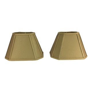 Gold Patterned Octagonal Lamp Shades - a Pair