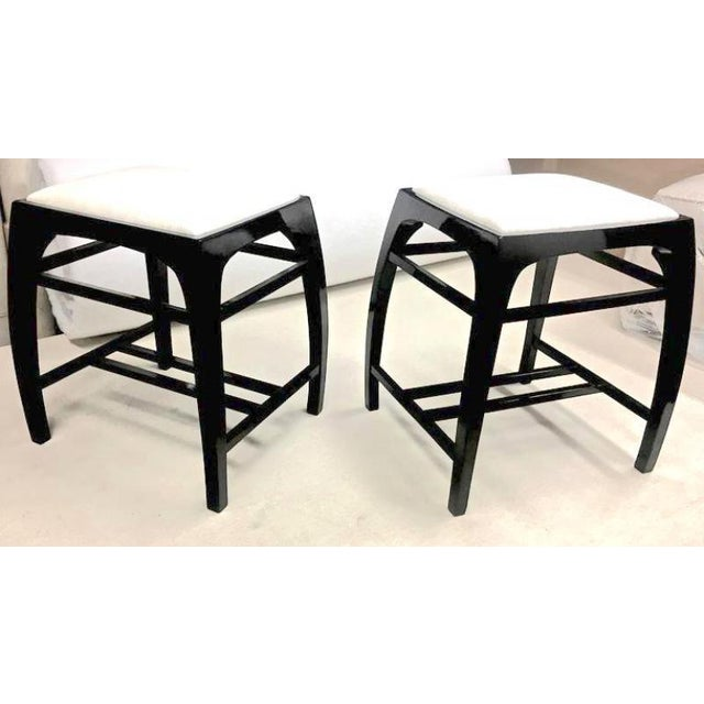 Pair of Austrian Secession Stools Attributed to Koloman Moser For Sale - Image 6 of 6