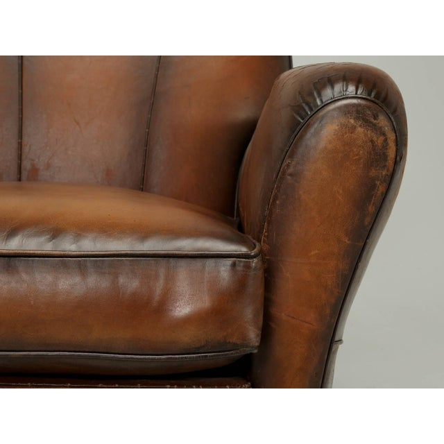 French Art Deco Original Cloud Back Style Club Chairs in Incredible Condition For Sale In Chicago - Image 6 of 10