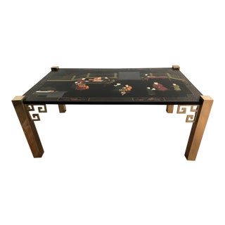 Chinoiserie Asian Maitland-Smith Coffee Table Hollywood Regency Chinoiserie For Sale