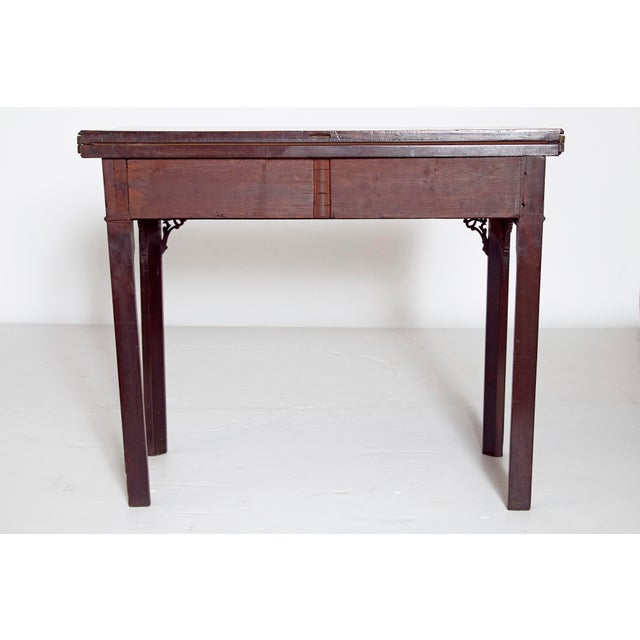 Chippendale Mid-18th Century Early George III Mahogany Card Table For Sale - Image 3 of 13