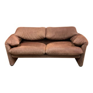 Mid-20th Century Cassina Vico Magistretti Maralunga Loveseat For Sale