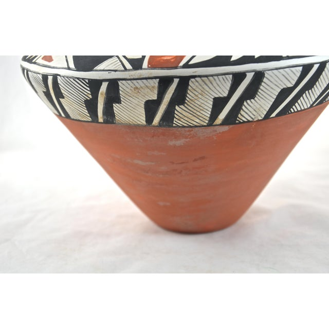 Southwest Hand Painted Acoma Pueblo Olla Jar For Sale - Image 4 of 6