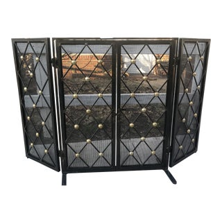 Vintage Mid-Century Fire Screen in Tommi Parzinger-Style For Sale