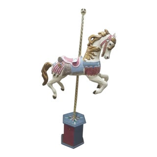 "Late 20th Century Vintage ""The Brass Ring Collection"" Carousel Horse and Music Box For Sale"