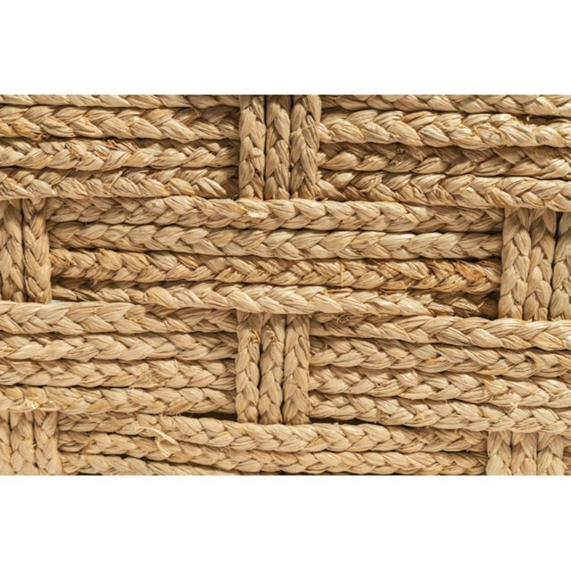 Audoux Minet Pair of Woven Rope Lounge Comfy Chairs For Sale - Image 6 of 7