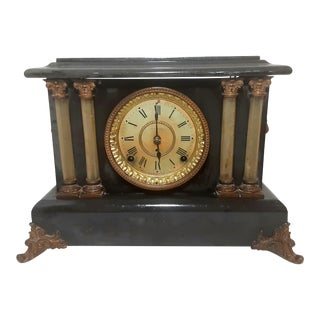 1890s Apache Seth Thomas Adamantine 8 Day Mantle Clock For Sale