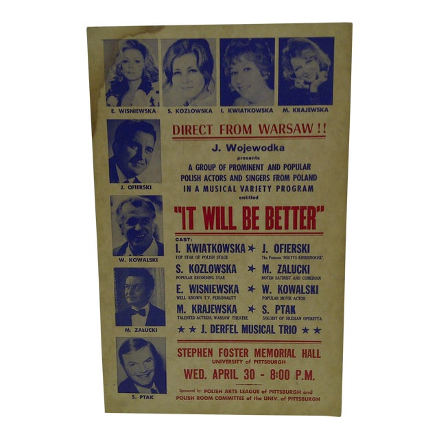 """Vintage """"It Will Be Better"""" Poster For Sale"""