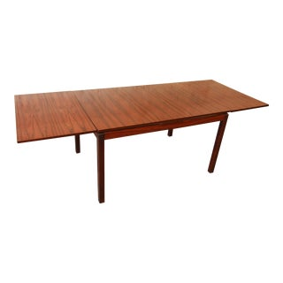 Norwegian Rosewood Dining Table by Heggen For Sale