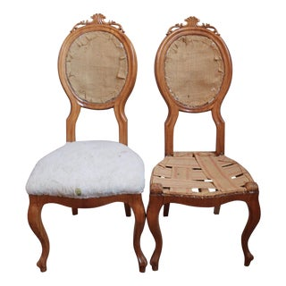 Antique Biedermeier Side Chairs - A Pair