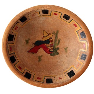Vintage Mexican Wood Bowl For Sale