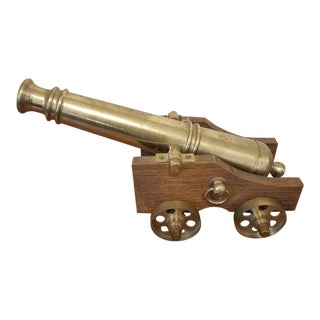 Large Brass Cannon Replica For Sale