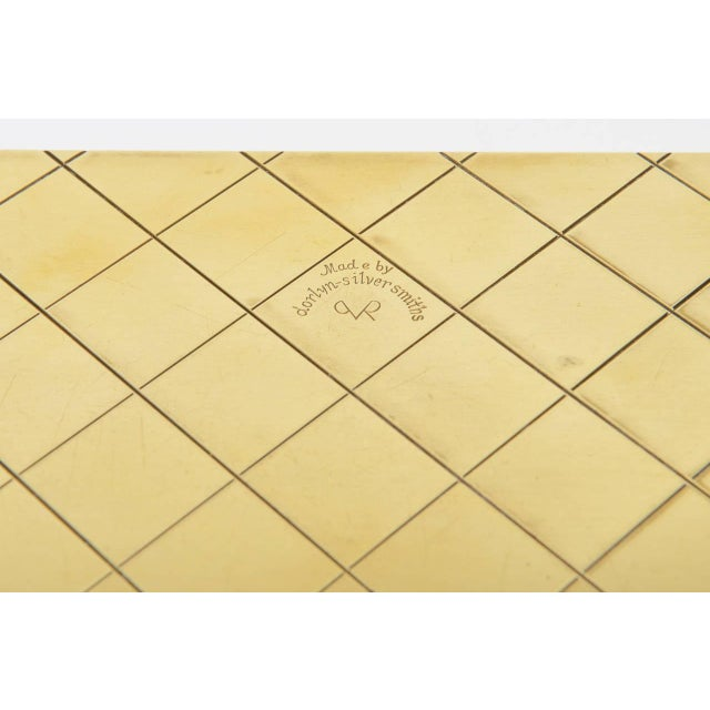 Tommi Parzinger Polished Diamond Criss Cross Brass and Wood Box - Image 9 of 9