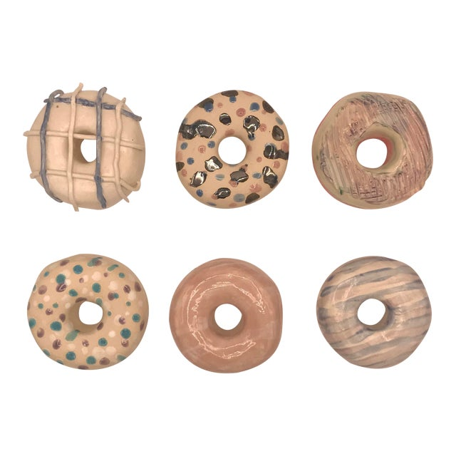 Surface Ceramics Wall Donuts - Set of 6 For Sale