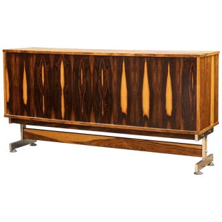 1960s Mid-Century Brazilian Rosewood Credenza Cabinet Lafer Zalszupin Rodrigues For Sale