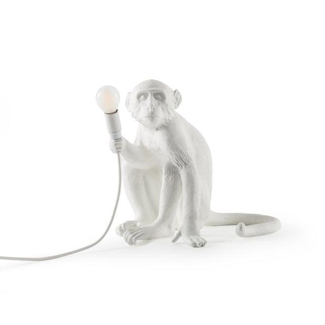 Seletti, Sitting Monkey Lamp, White, Marcantonio, 2016 For Sale - Image 11 of 11