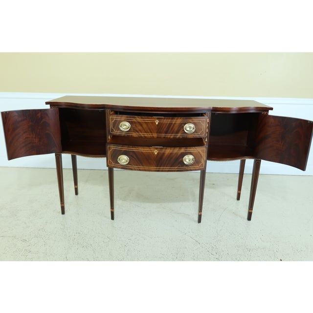 1990s Stickley Federal Style Inlaid Mahogany Sideboard For Sale - Image 5 of 13