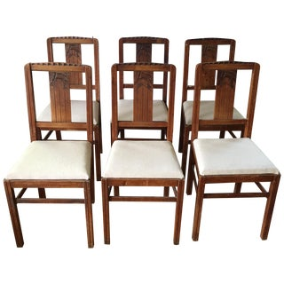 Sieges Arts & Crafts Dining Chairs - Set of 6 For Sale
