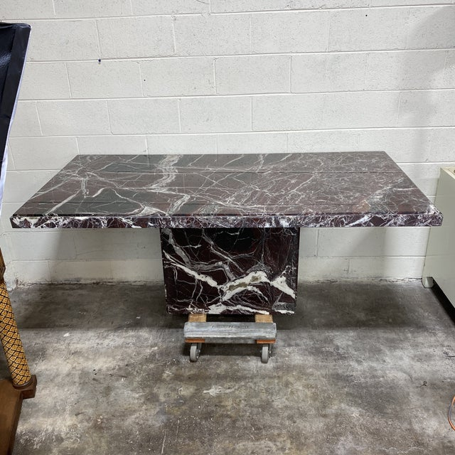 Monumental Marble Dining or Desk Table For Sale - Image 13 of 13