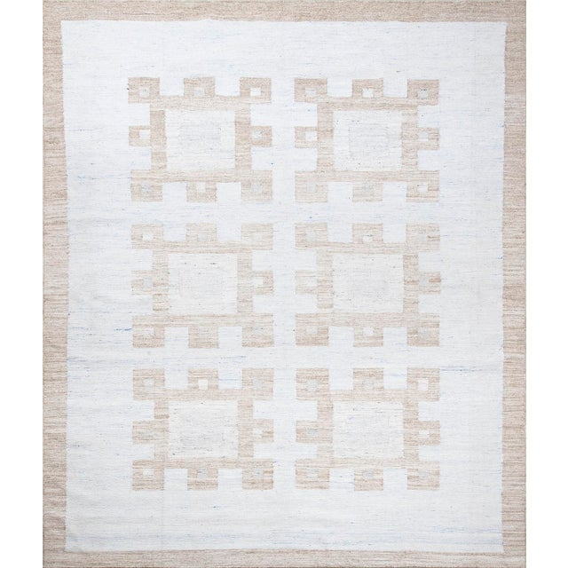 2010s Schumacher Patterson Flynn Martin Dimma Hand Woven Geometric Rug For Sale - Image 5 of 5