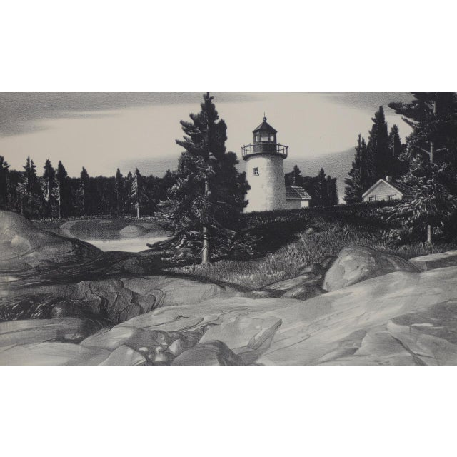 """Stow Wengenroth """"Inlet Light"""" Limited Edition Pencil Signed Lithograph c.1937 Rare pencil signed lithograph published in..."""