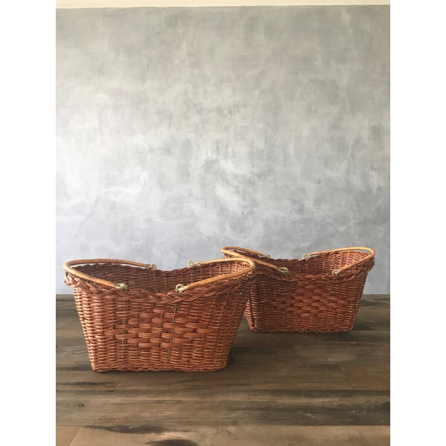 Rattan Carrying Baskets - A Pair - Image 4 of 7