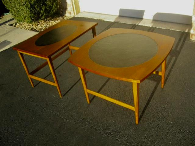 Paul McCobb Signature Walnut Leather Side Tables   A Pair   Image 8 Of 8