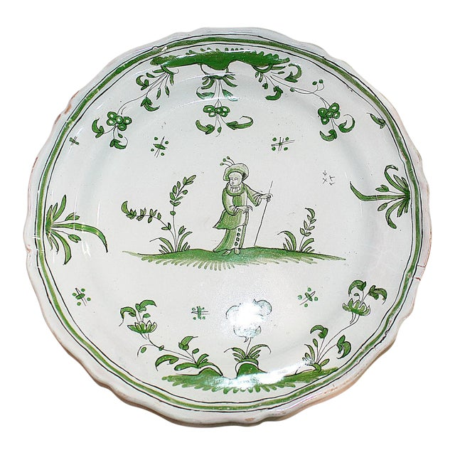 French Faience Quimper-Style Plate - Image 1 of 4