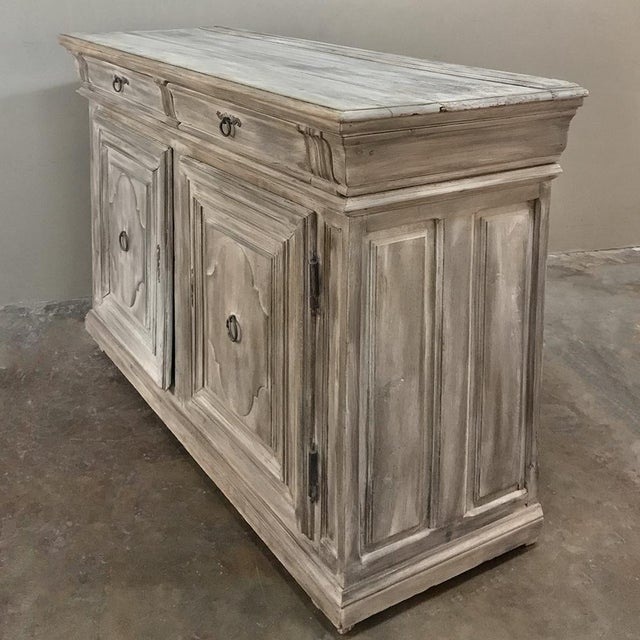 Early 18th Century Country French Whitewashed Buffet For Sale - Image 4 of 13