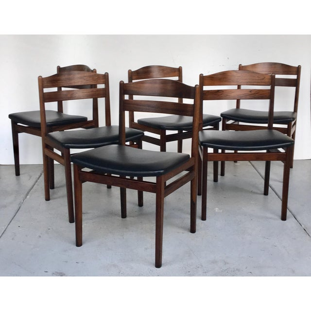 Danish Modern Rosewood Dining Chairs - Set of 6 - Image 3 of 8
